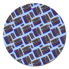 Abstract Pattern Seamless Artwork Magnet 5  (round)