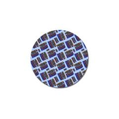 Abstract Pattern Seamless Artwork Golf Ball Marker