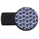 Abstract Pattern Seamless Artwork USB Flash Drive Round (2 GB) Front