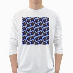 Abstract Pattern Seamless Artwork White Long Sleeve T Shirts
