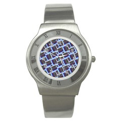 Abstract Pattern Seamless Artwork Stainless Steel Watch