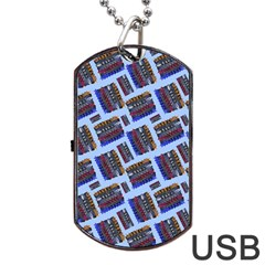 Abstract Pattern Seamless Artwork Dog Tag Usb Flash (one Side)