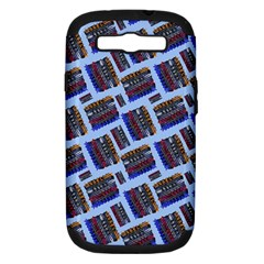 Abstract Pattern Seamless Artwork Samsung Galaxy S III Hardshell Case (PC+Silicone)