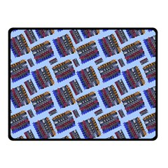 Abstract Pattern Seamless Artwork Double Sided Fleece Blanket (small)