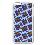 Abstract Pattern Seamless Artwork Apple iPhone 6 Plus/6S Plus Enamel White Case Front
