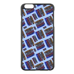 Abstract Pattern Seamless Artwork Apple Iphone 6 Plus/6s Plus Black Enamel Case