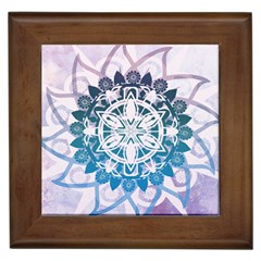 Mandalas Symmetry Meditation Round Framed Tiles
