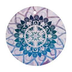 Mandalas Symmetry Meditation Round Ornament (round)