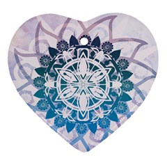 Mandalas Symmetry Meditation Round Ornament (heart)
