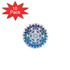Mandalas Symmetry Meditation Round 1  Mini Magnet (10 pack)