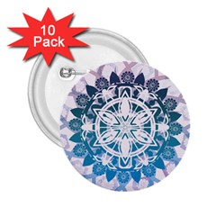 Mandalas Symmetry Meditation Round 2 25  Buttons (10 Pack)