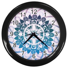 Mandalas Symmetry Meditation Round Wall Clocks (Black)