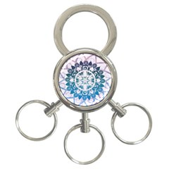 Mandalas Symmetry Meditation Round 3 Ring Key Chains