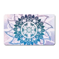 Mandalas Symmetry Meditation Round Magnet (Rectangular)