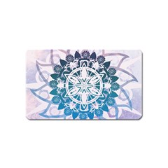 Mandalas Symmetry Meditation Round Magnet (Name Card)