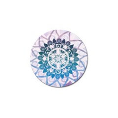Mandalas Symmetry Meditation Round Golf Ball Marker