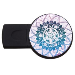 Mandalas Symmetry Meditation Round Usb Flash Drive Round (2 Gb)
