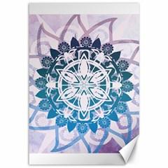 Mandalas Symmetry Meditation Round Canvas 12  X 18