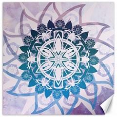 Mandalas Symmetry Meditation Round Canvas 20  X 20