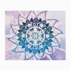 Mandalas Symmetry Meditation Round Small Glasses Cloth (2 Side)