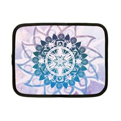 Mandalas Symmetry Meditation Round Netbook Case (small)