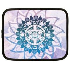 Mandalas Symmetry Meditation Round Netbook Case (large)