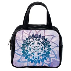 Mandalas Symmetry Meditation Round Classic Handbags (one Side)