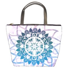 Mandalas Symmetry Meditation Round Bucket Bags