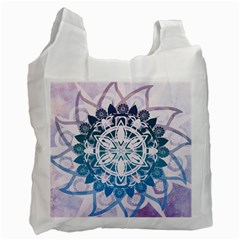 Mandalas Symmetry Meditation Round Recycle Bag (one Side)