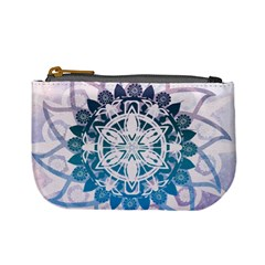 Mandalas Symmetry Meditation Round Mini Coin Purses
