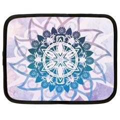 Mandalas Symmetry Meditation Round Netbook Case (xxl)