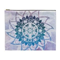 Mandalas Symmetry Meditation Round Cosmetic Bag (xl)