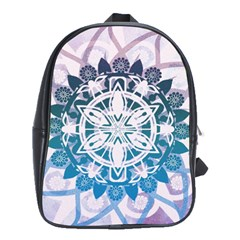 Mandalas Symmetry Meditation Round School Bags(large)