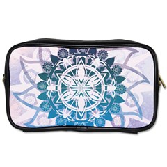 Mandalas Symmetry Meditation Round Toiletries Bags 2 Side