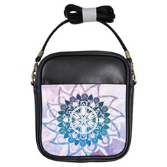 Mandalas Symmetry Meditation Round Girls Sling Bags