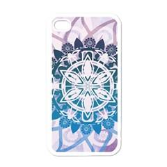 Mandalas Symmetry Meditation Round Apple Iphone 4 Case (white)