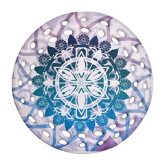 Mandalas Symmetry Meditation Round Ornament (round Filigree)