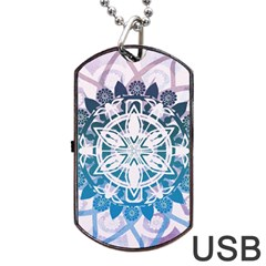 Mandalas Symmetry Meditation Round Dog Tag Usb Flash (two Sides)