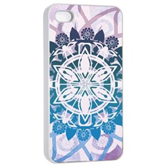 Mandalas Symmetry Meditation Round Apple Iphone 4/4s Seamless Case (white)