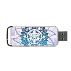 Mandalas Symmetry Meditation Round Portable Usb Flash (one Side)