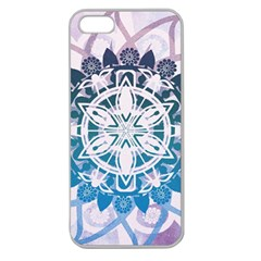 Mandalas Symmetry Meditation Round Apple Seamless Iphone 5 Case (clear)