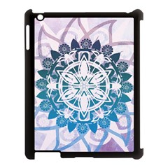 Mandalas Symmetry Meditation Round Apple Ipad 3/4 Case (black)