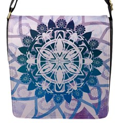 Mandalas Symmetry Meditation Round Flap Messenger Bag (S)