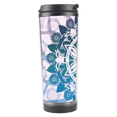 Mandalas Symmetry Meditation Round Travel Tumbler