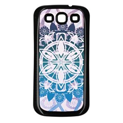 Mandalas Symmetry Meditation Round Samsung Galaxy S3 Back Case (Black)