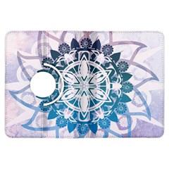 Mandalas Symmetry Meditation Round Kindle Fire HDX Flip 360 Case