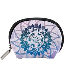 Mandalas Symmetry Meditation Round Accessory Pouches (small)