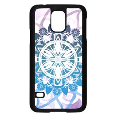 Mandalas Symmetry Meditation Round Samsung Galaxy S5 Case (Black)