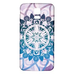 Mandalas Symmetry Meditation Round Samsung Galaxy S5 Back Case (white)