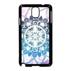 Mandalas Symmetry Meditation Round Samsung Galaxy Note 3 Neo Hardshell Case (black)
